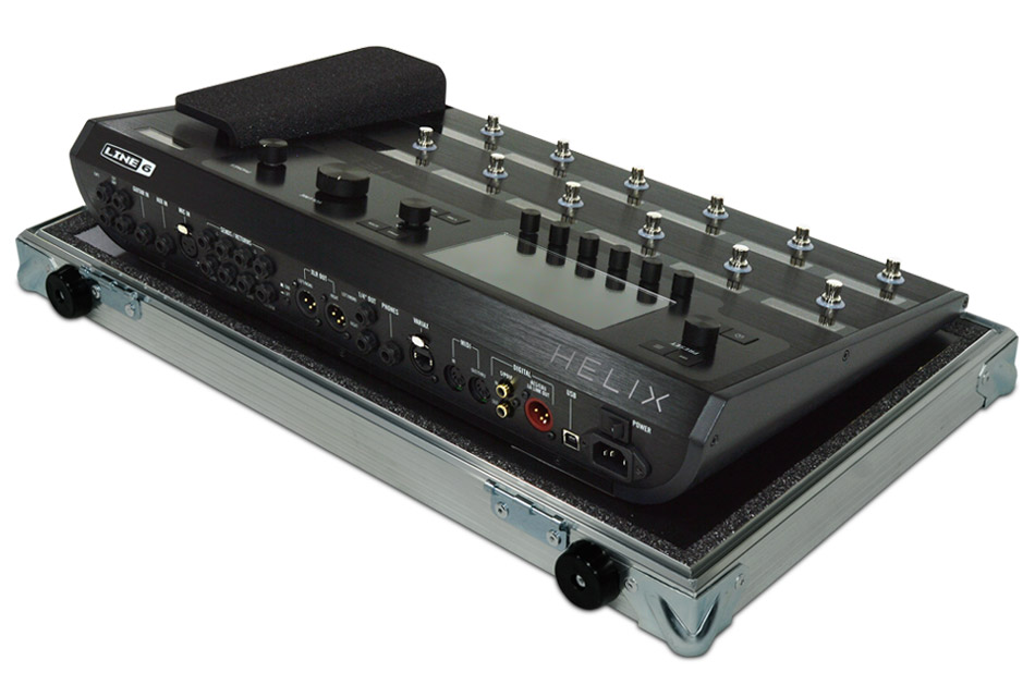 Line 6 Helix guitar pedalboard